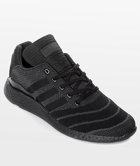 d06bc8df77efa adidas Busenitz Pure Boost Prime All Black Shoes