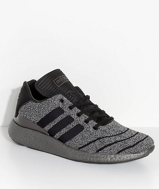 on sale 3a2dd 6bc26 adidas Busenitz Pure Boost Prime Grey  Black Shoes  Zumiez