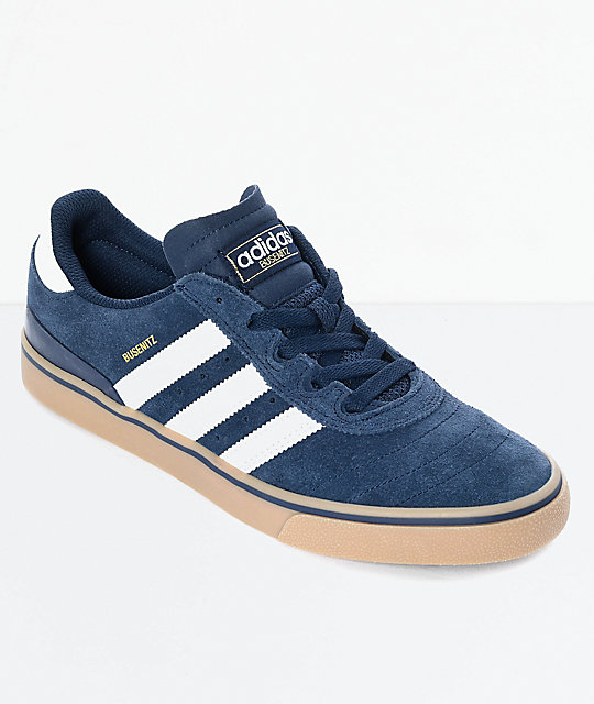 adidas Busenitz Vulc Navy & White Shoes ...