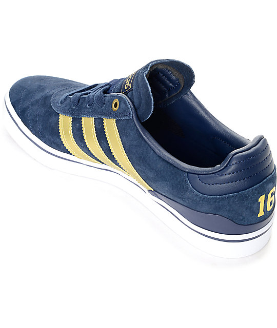 online retailer ed0be 0a03b ... adidas Busenitz Vulc ADV 10 Year Anniversary Navy  Gold Shoes ...