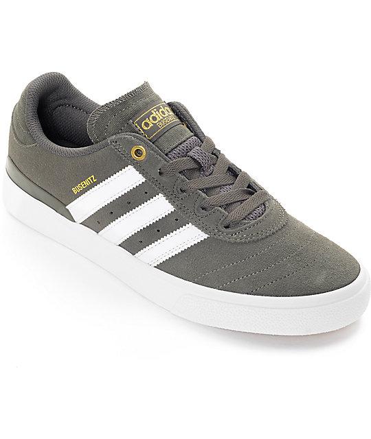 24515b81a1 adidas Busenitz Vulc ADV Utility Grey & White Shoes