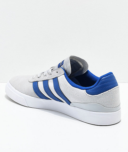 adidas Busenitz Vulc Grey & Dark Blue Suede Shoes