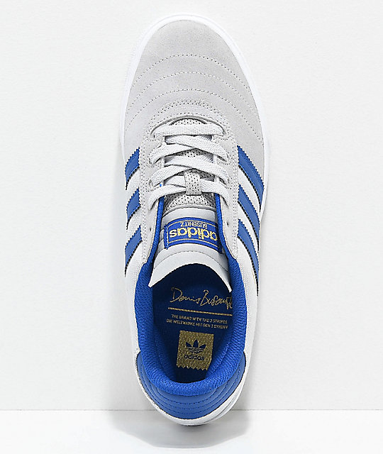 innovative design e055d e3d32 coupon code for adidas busenitz vulc grey dark blue suede shoes 92633 de6de