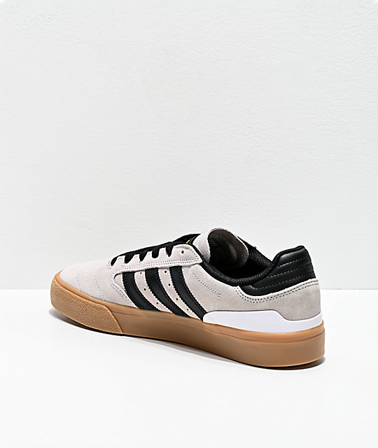 adidas Busenitz Vulc II White, Black & Gum Shoes