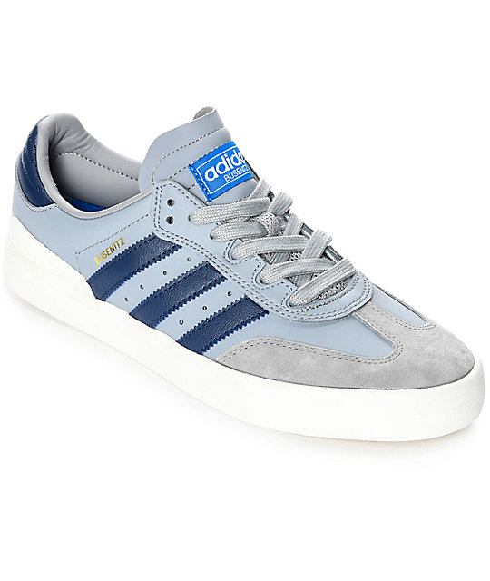d86d16ae0cd2a adidas Busenitz Vulc Samba Grey & Navy Shoes
