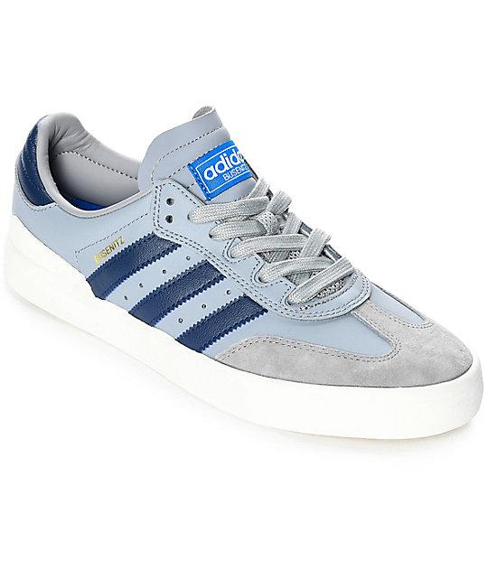 adidas Busenitz Vulc Grey & Dark Blue Suede Shoes Zumiez  Zumiez