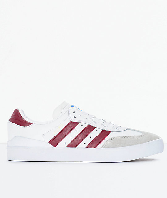 adidas Busenitz Vulc Samba RX White & Burgundy Shoes