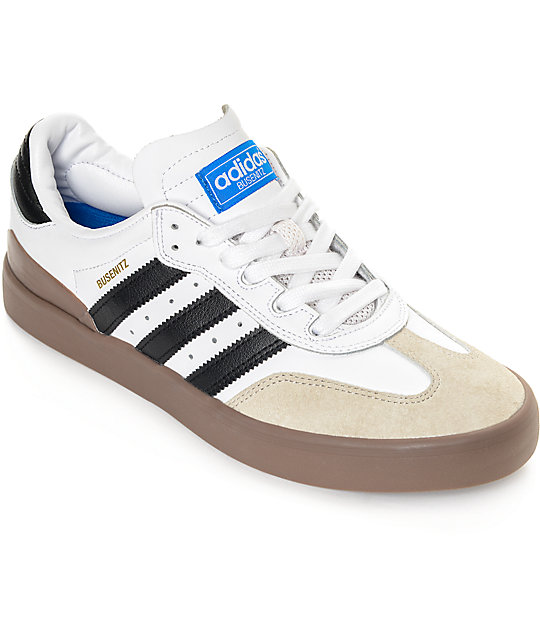 adidas Busenitz Vulc Samba White   Gum Shoes  a8371a895458