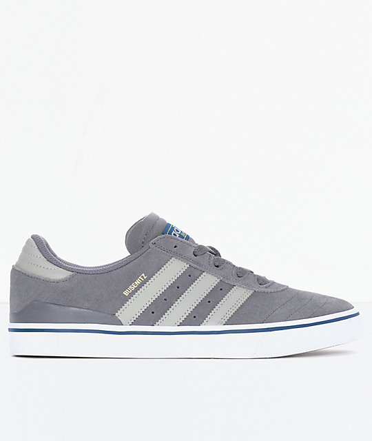adidas Busenitz Vulc Sesame Grey & White Shoes
