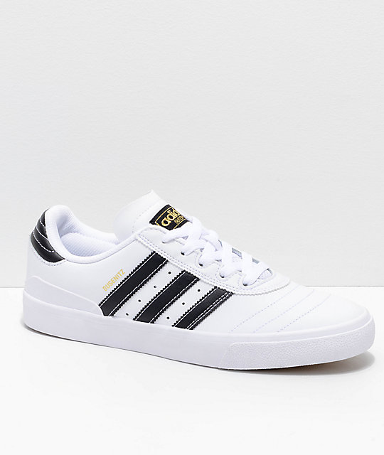 adidas Busenitz Vulc White, Black & Gold Shoes