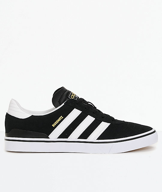 c3a8ef22237a ... adidas Busenitz Vulc White   Black Shoes ...