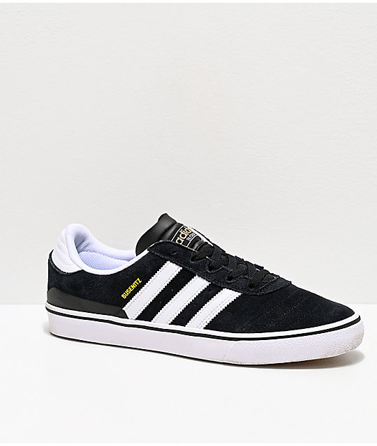 adidas Busenitz Vulc White   Black Shoes  9ab3fda901