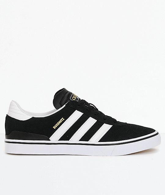 adidas black n white shoes