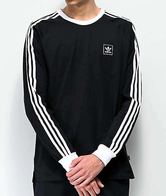 Adidas Cali Blackbird Black & White Long Sleeve T Shirt by Adidas