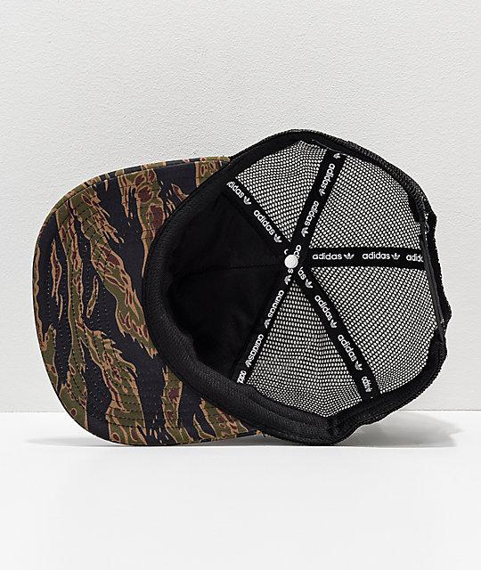 69d7e0bd adidas Camo Trucker Hat   Zumiez