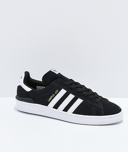 3debd9754502 adidas Campus ADV Black   White Shoes