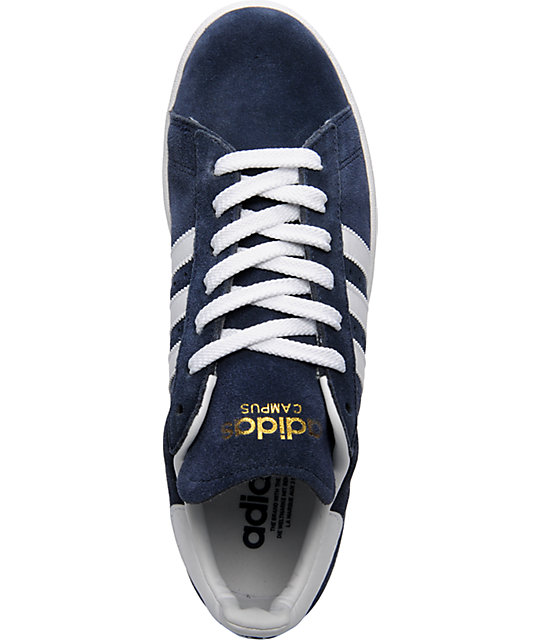 adidas Campus II Navy & White Suede Shoes