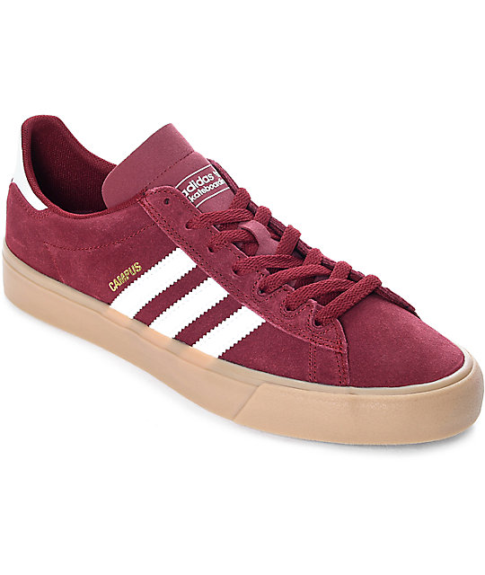 wide range best quality best sell adidas Campus Vulc II Burgundy, White & Gum Shoes