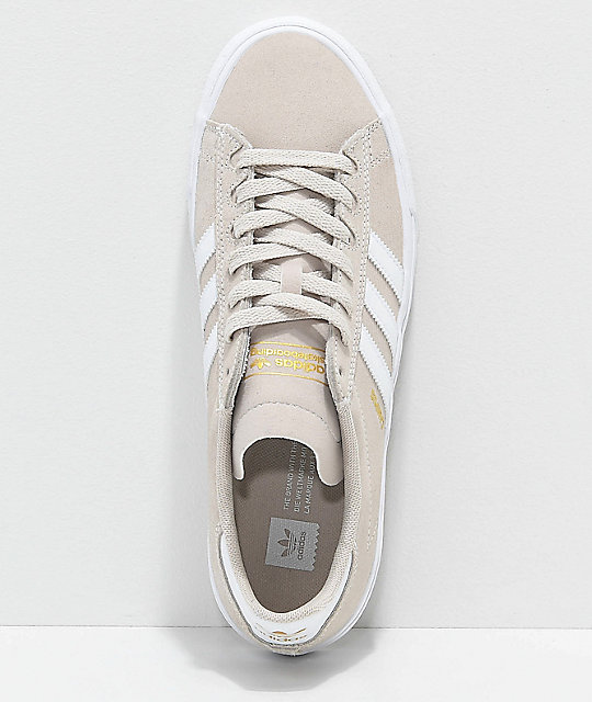 pretty nice c1255 deee3 ... adidas Campus Vulc II Cream  White Shoes ...