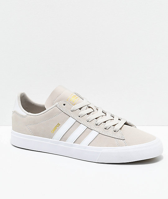 new styles c3959 e64b8 adidas Campus Vulc II Cream  White Shoes  Zumiez