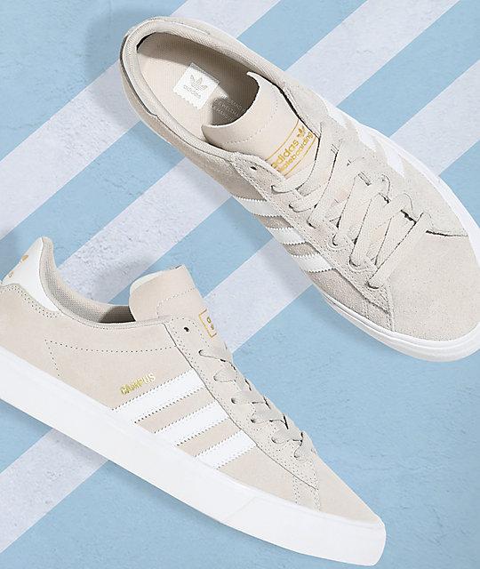 adidas Campus Vulc II Cream & White Shoes
