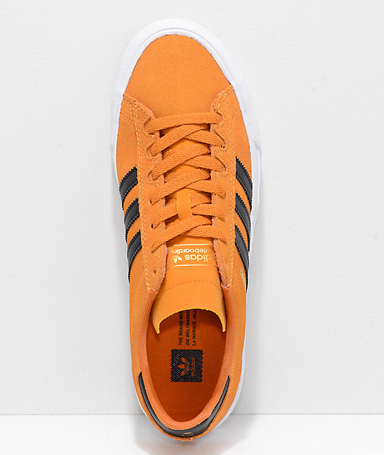 huge selection of b8f0d a9a45 ... adidas Campus Vulc II Orange, Black  White Shoes ...
