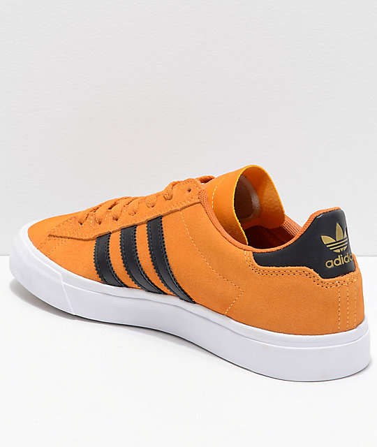 adidas Campus Vulc II Orange, Black & White Shoes
