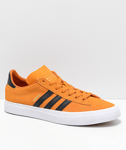 finest selection 2f045 32f29 adidas Campus Vulc II Orange, Black  White Shoes  Zumiez