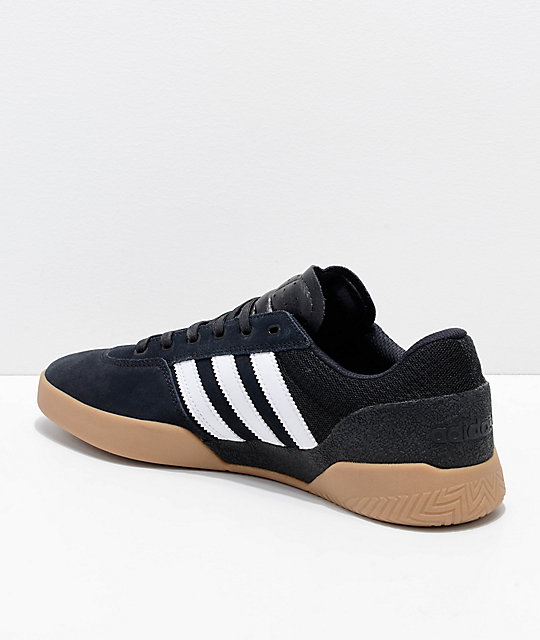 factory authentic 4f500 74a31 ... adidas City Cup Black, White  Gum Shoes ...