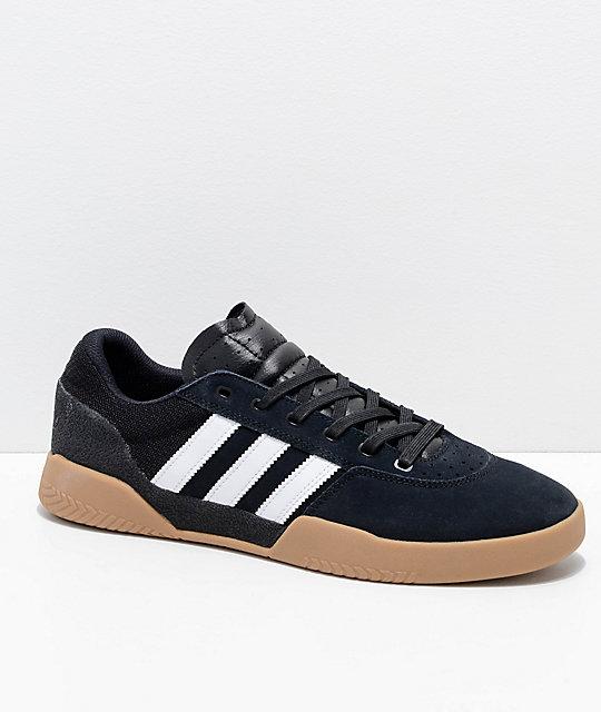 watch aa789 6064d adidas City Cup Black, White  Gum Shoes  Zumiez