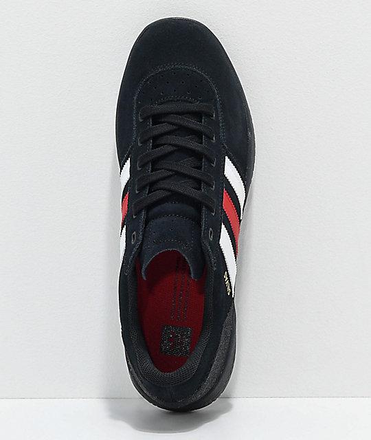 separation shoes 3b966 ed6aa ... adidas City Cup Silvas zapatos negros, blancos y rojos ...