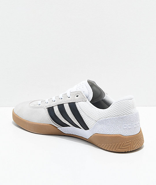 adidas City Cup White, Black & Gum Shoes
