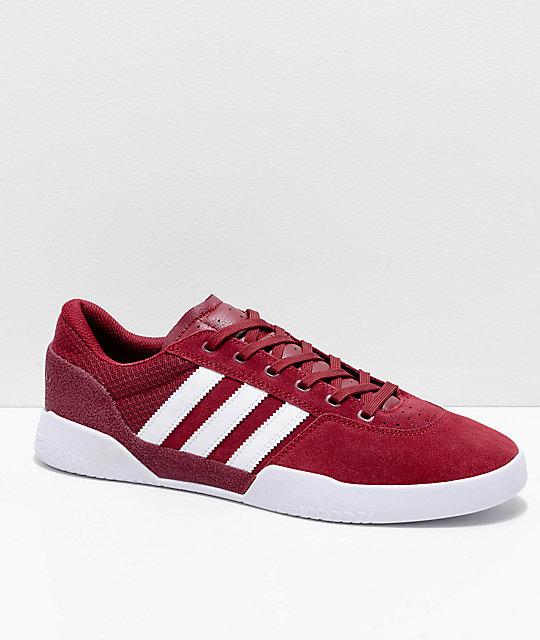 finest selection 5d44a 62420 adidas City Cup zapatos burdeos y blancos ...