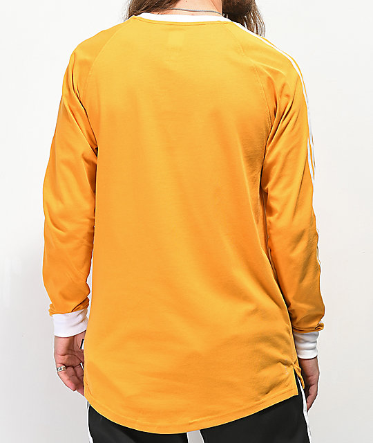 adidas Clima 2.0 Yellow Long Sleeve T-Shirt