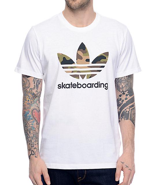 adidas Clima 3.0 Camo Fill White T Shirt