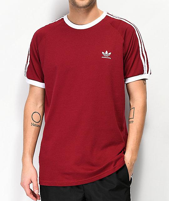 adidas Clima California 2.0 Burgundy T-Shirt  47dda05f73d4