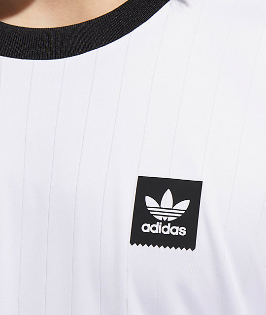 new arrival 6d7ab 2c68d ... adidas Club White   Black Long Sleeve Jersey