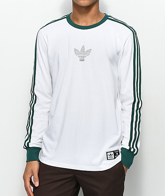 adidas long sleeve shirt white