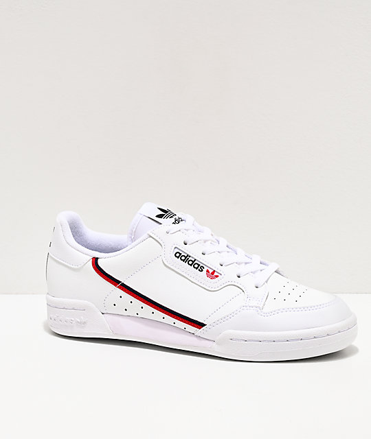 adidas Continental 80 J zapatos blancos, rojos y azul marino
