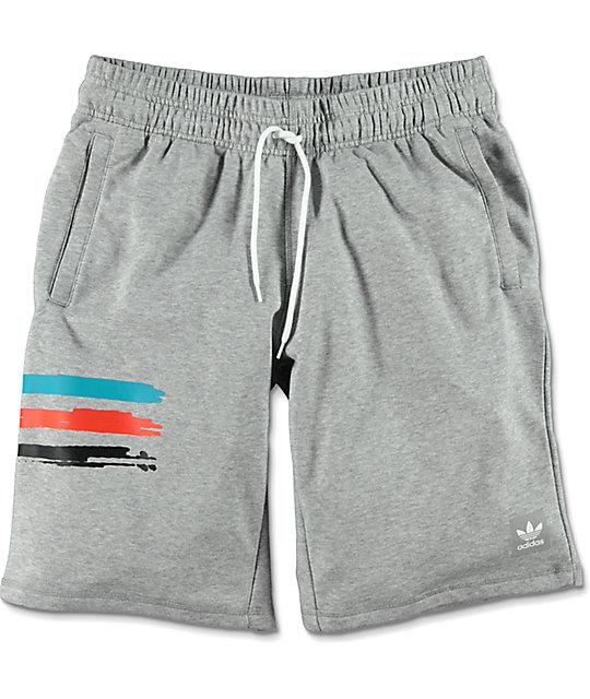 47ac64b899f1 adidas Courtside Clima Grey Sweat Shorts