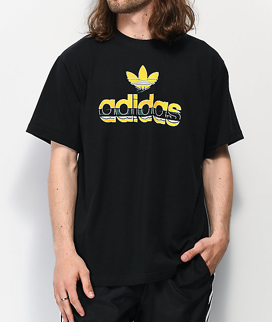tee shirt all black adidas
