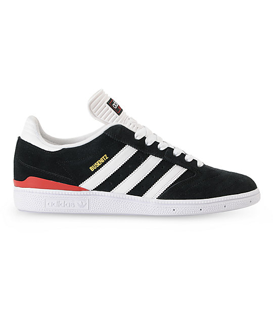 adidas Dennis Busenitz Black & University Red Shoes