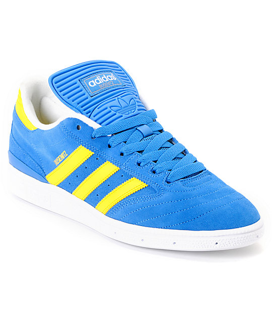 Adidas Busenitz Blue Sun Yellow Running White Discounted (200) Men's Shoes