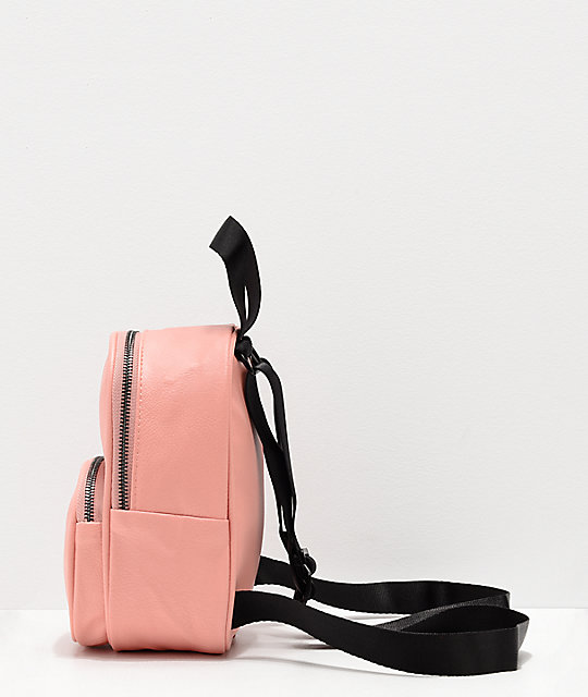 adidas Dusty Pink Faux Leather Mini Backpack