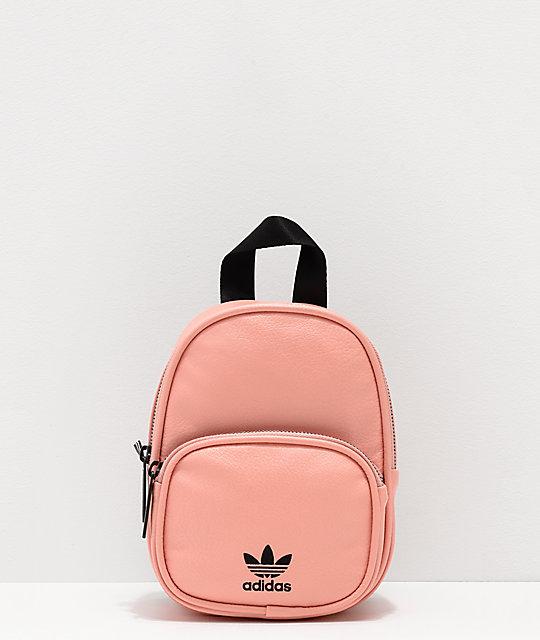 adidas Dusty Pink Faux Leather Mini Backpack  02dd2db5f1ec6