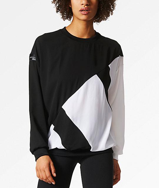adidas EQT Blocked Crew Neck Black Sweatshirt