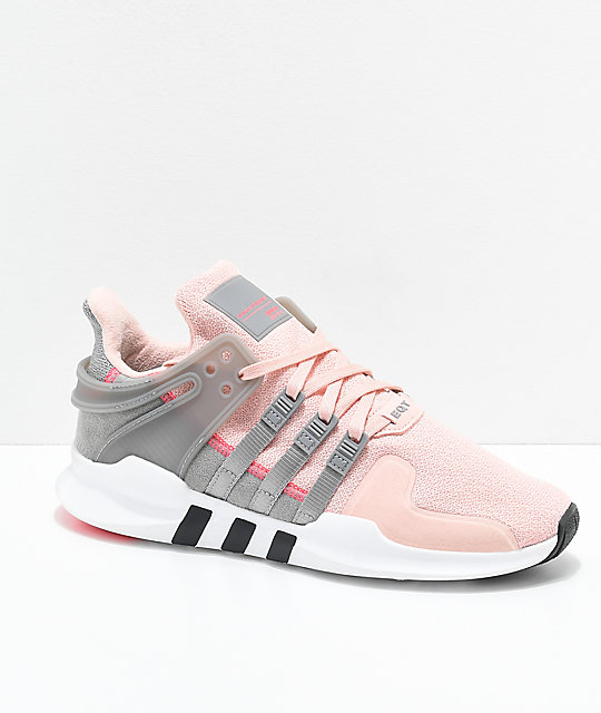 hot sale online b7b83 3be67 adidas EQT Support ADV Pink  Grey Shoes  Zumiez