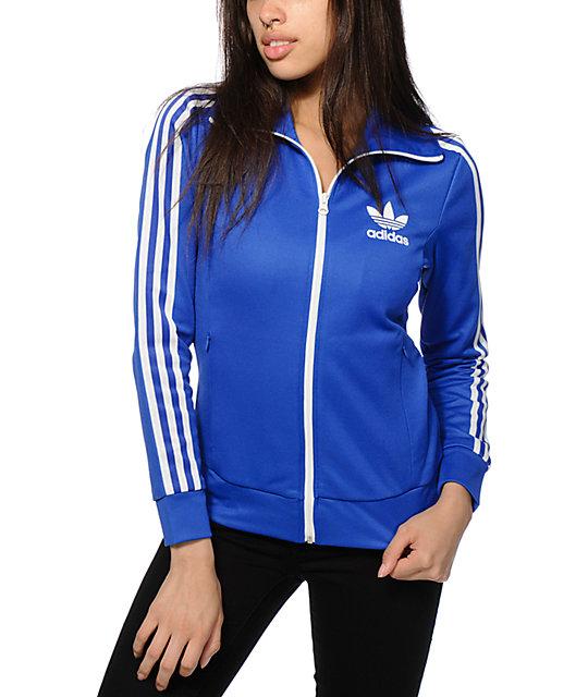 blue adidas track jacket