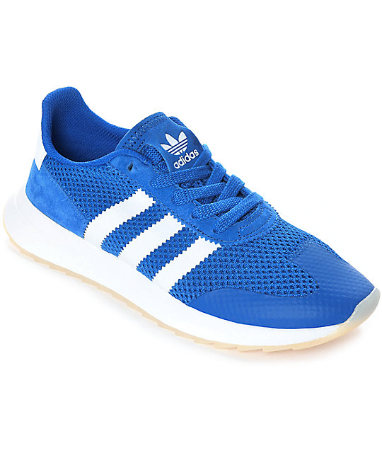 adidas Flashback Blue   White Womens Shoes  40114d0b53