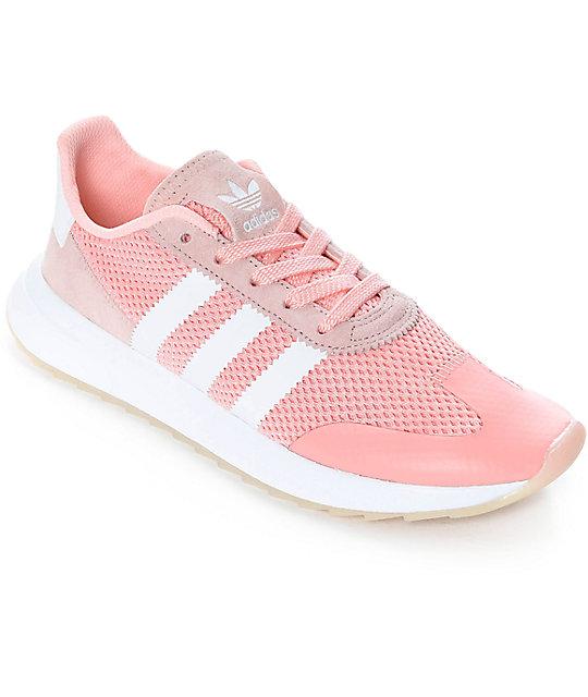 adidas Flashback Haze Coral & White Shoes Zumiez    adidas Flashback Haze Coral & White Shoes   title=          Zumiez